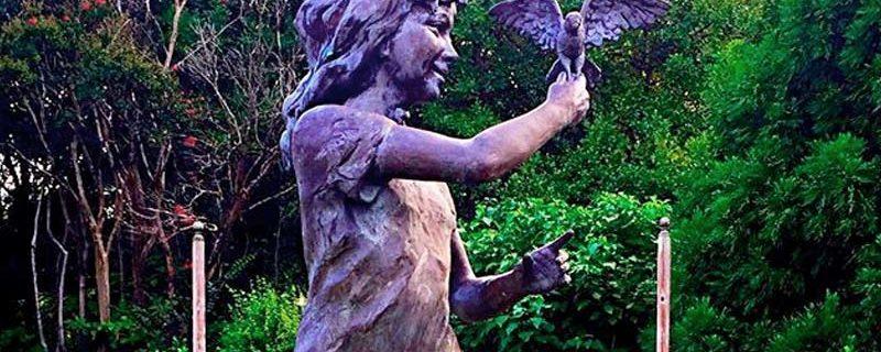 Hope Statue – Rose Garden